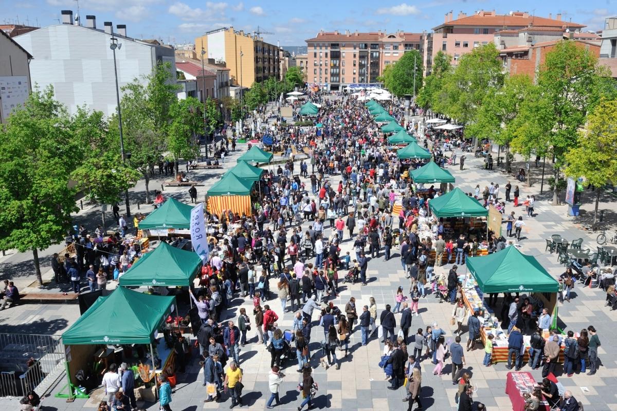 La imatge de Cal Font en el Sant Jordi igualadí de 2016