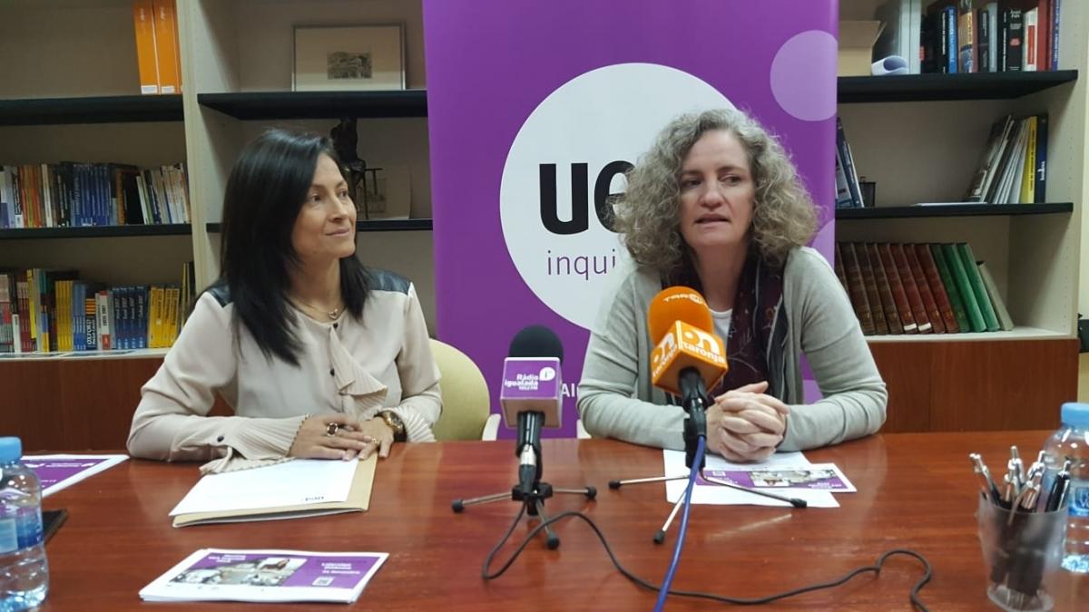 Stephanie Marko, a la dreta, amb Paula Arias, secretària general de la UEA