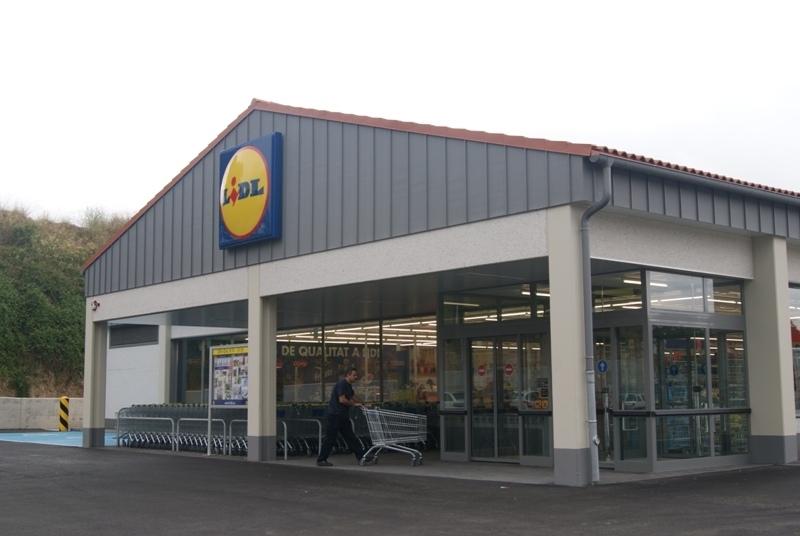 El supermercat de Lidl a Òdena