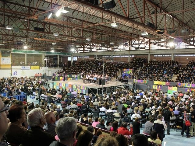 Imatge de la Cantata del 2014, que va reunir ja 700 escolars