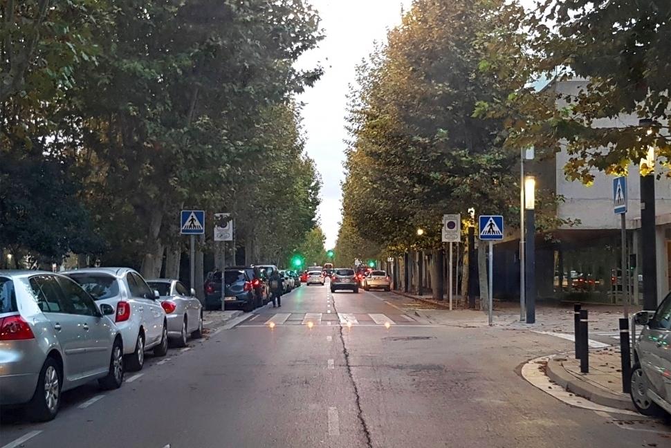 El punt on una persona va ser atropellada al Passeig Verdaguer, el passat novembre