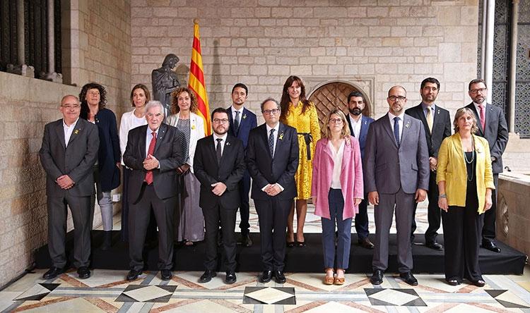 Chacón i Vergés amb el nou equip de govern de Quim Torra
