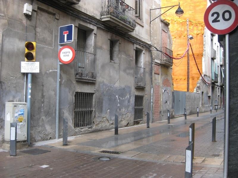 Entrada al carrer del Clos des del carrer d'Òdena