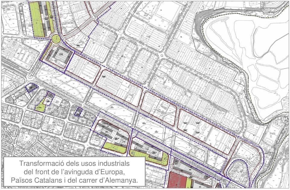 Av. Europa, Països Catalans i carrer Alemanya - Font: www.igualada.cat