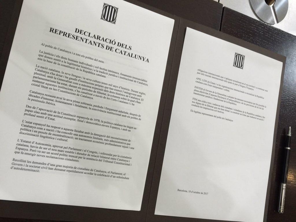 La declaració, a punt de firmar FONT: Efenoticias