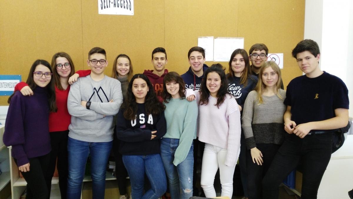 Els alumnes de l'IES Molí de la Vila de primer, que enceten el Batxibac