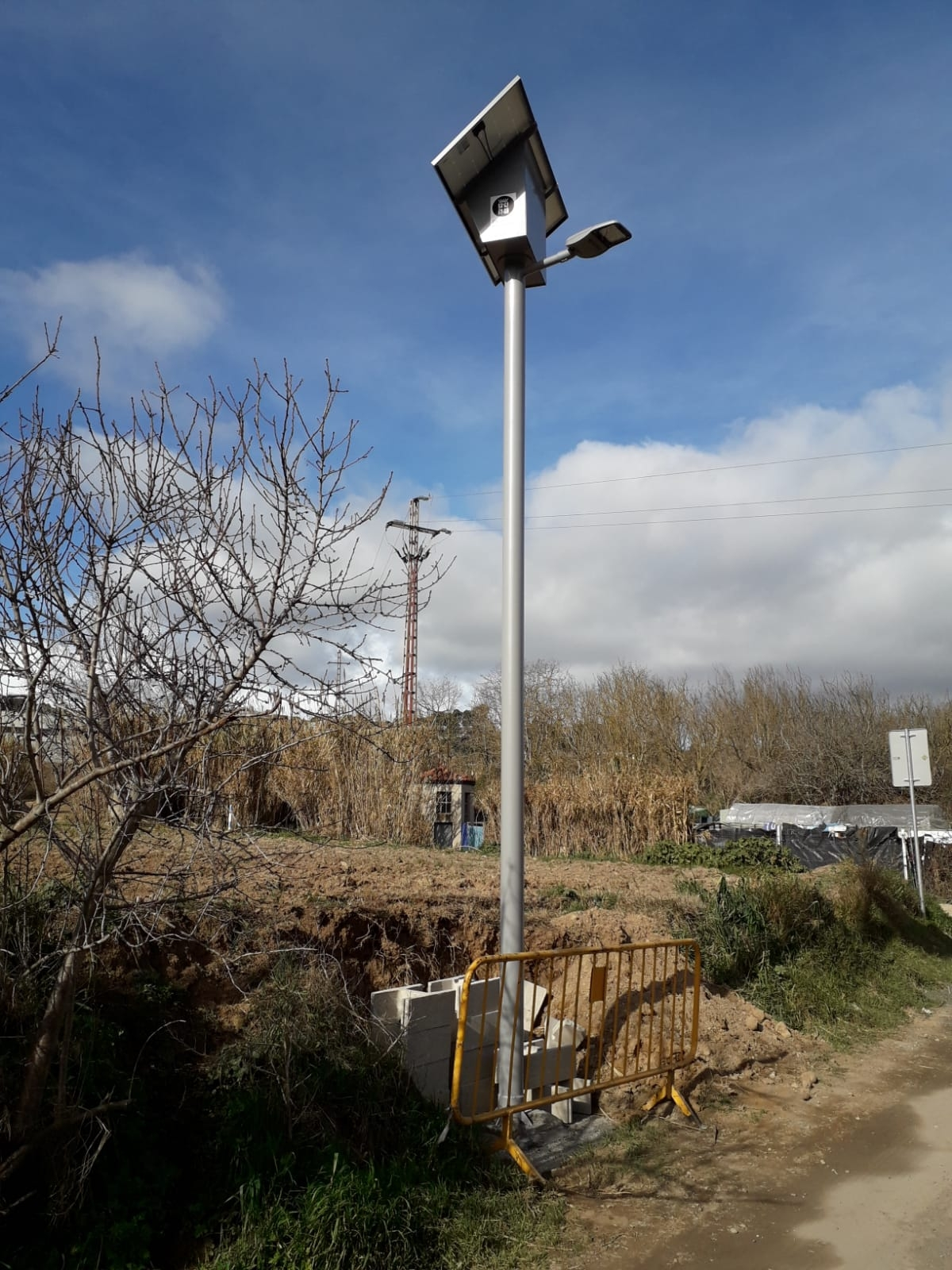 Els panells solars instal·lats al Camí