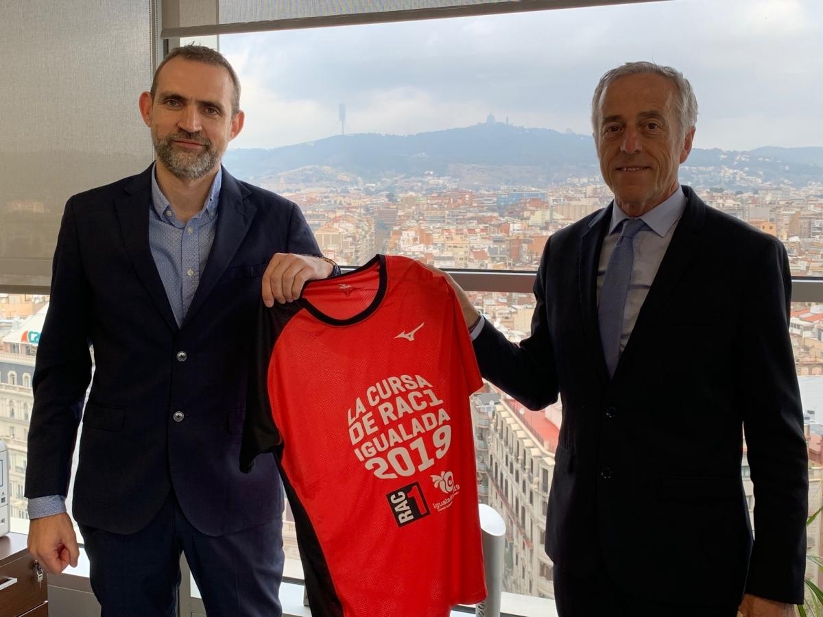 Gall, a l'esquerra, amb Jaume Peral