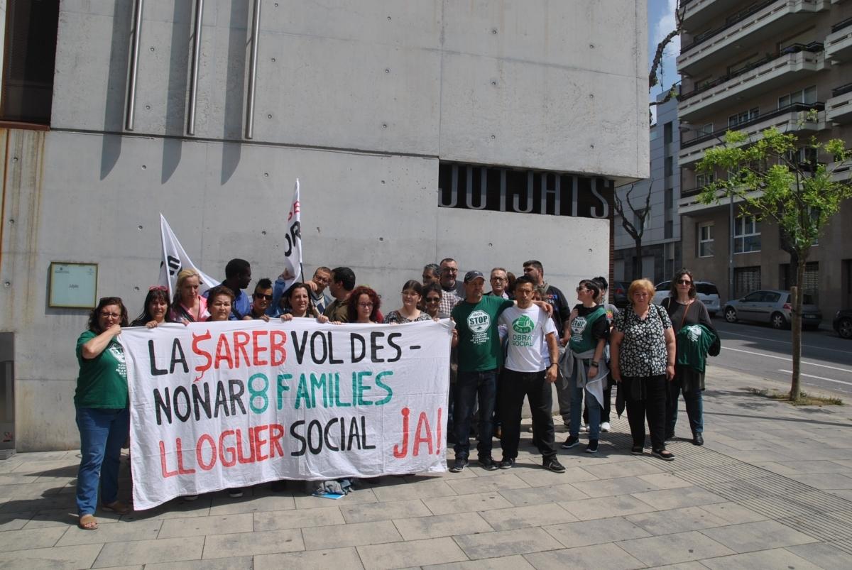 Els activistes de la PAH, aquest matí