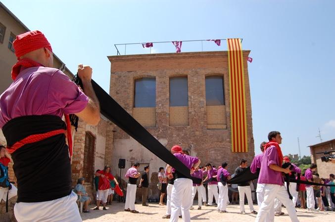 El local moixiganguer, Can Tabola, el dia de la seva inauguració (juliol de 2009)