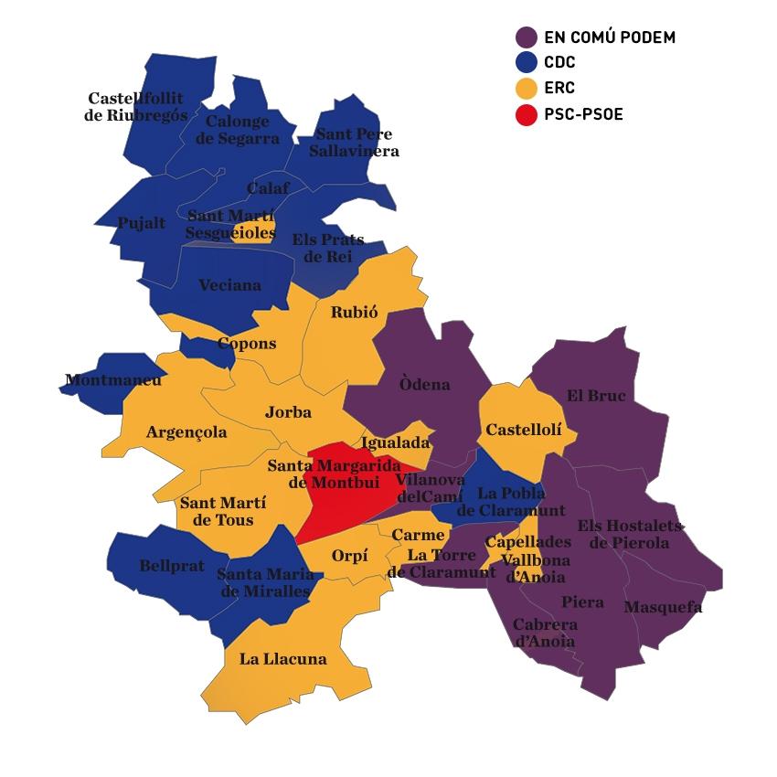 Els resultats de 2016, quan ECP va vèncer