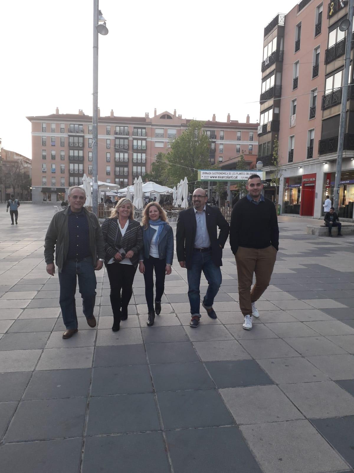 D'esquerra a dreta, Quintana, Manchón, Peña, Gordillo i Ayman El Hamouchi