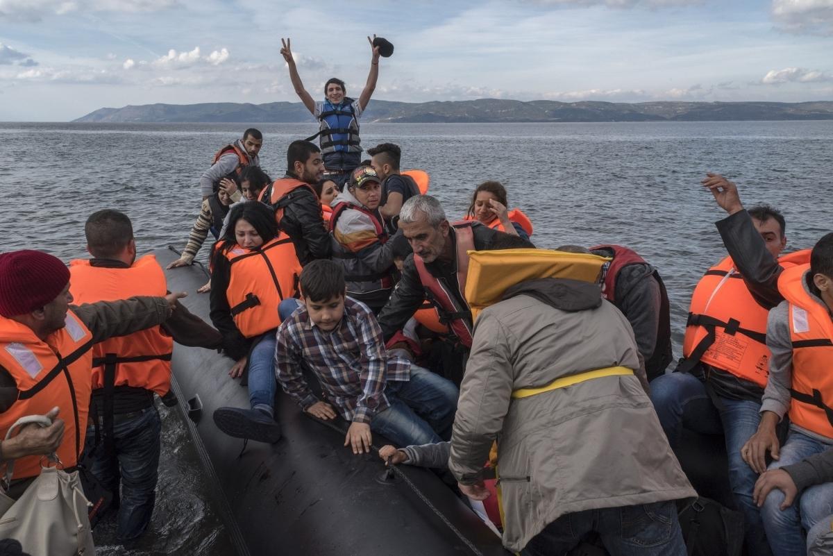 Un rescat a Lesbos, l'any 2015