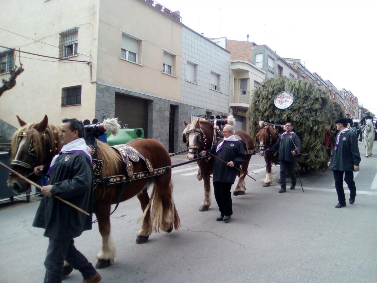 Els Traginers igualadins, a Sant Joan de Vilatorrada, el passat 5 de març