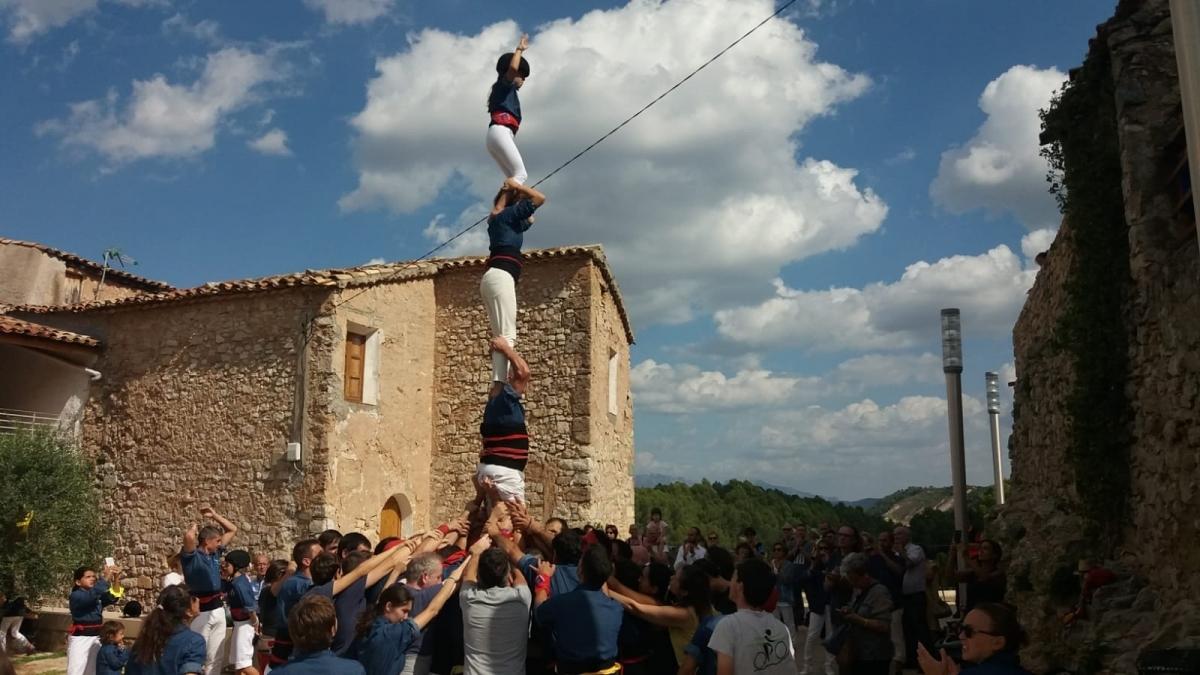 Els castellers de Mediona, una de les atraccions de diumenge