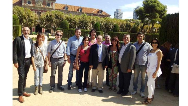 L'equip directiu del PSC, amb Iceta, el 2015