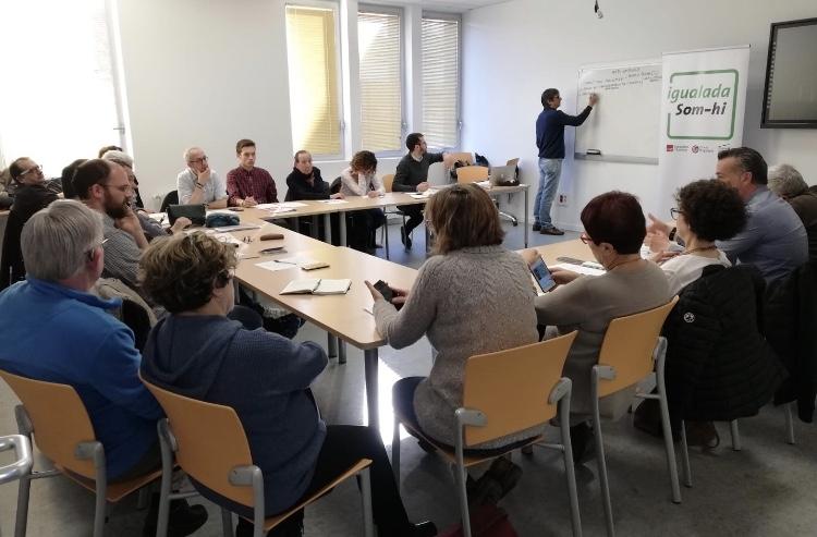 La trobada, a l'Espai Cívic Centre