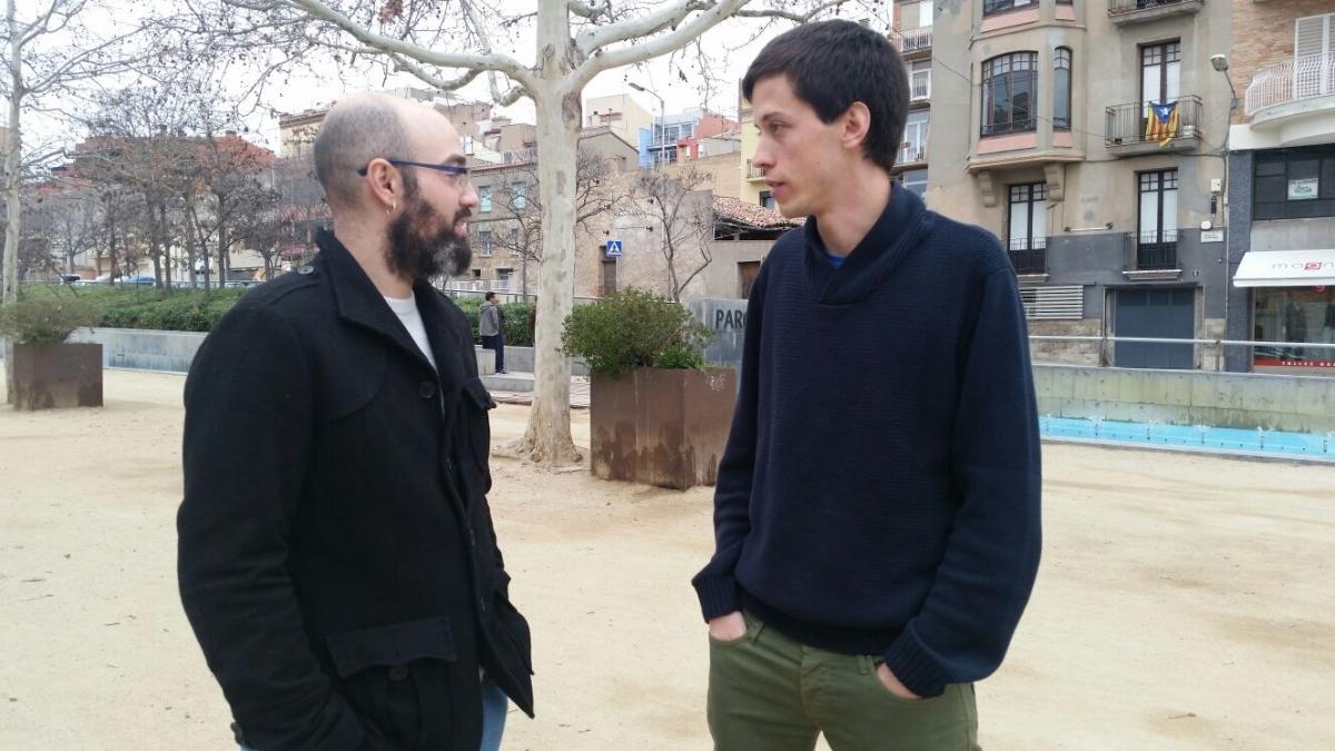 Juan Carlos González i Pau Ortínez, a l'Estació Vella FOTO: M. Sanou