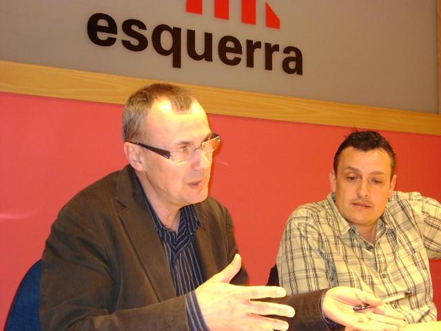 Joan Torras, amb Enric Asensi