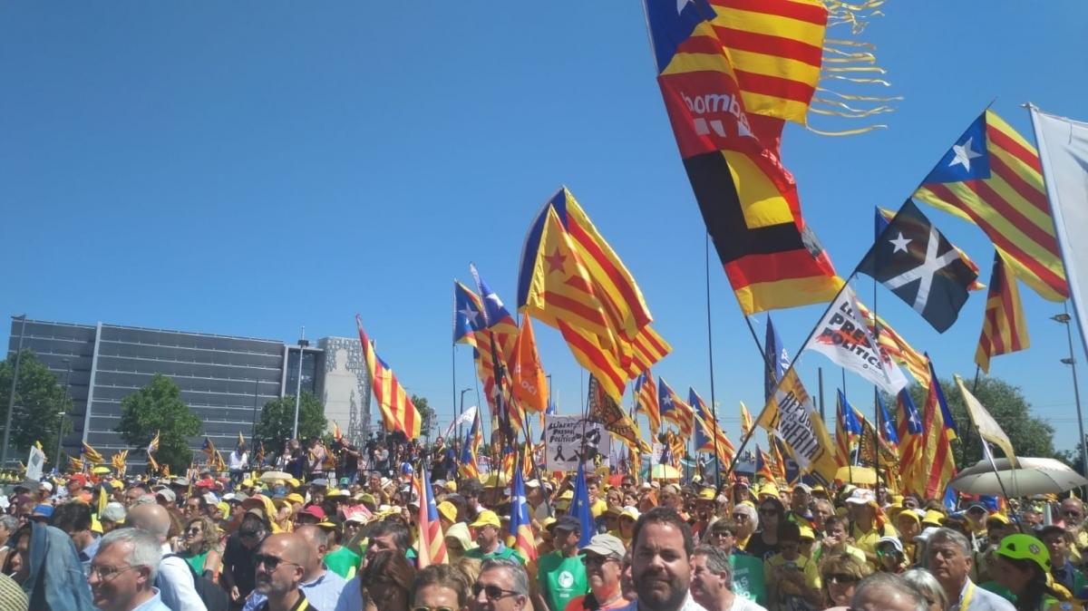Una de les imatges recollides per membres de l'ANC Anoia a Estrasburg