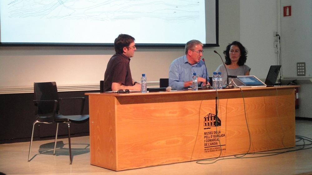 L'arquitecte municipal Carles Crespo explica el projecte d'horts socials al Rec