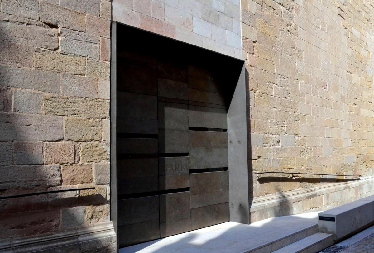 La porta lateral era el portal principal de Santa Maria