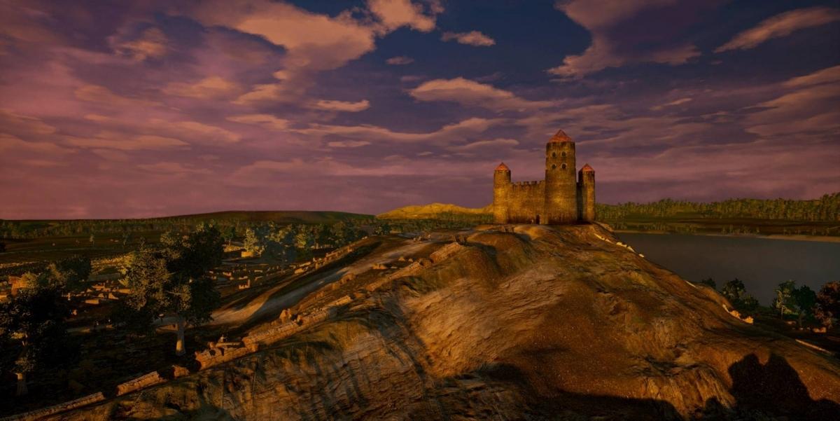 Imatge de la reconstrucció virtual del Castellum Uellosos, situat al cim del Puig de Sant Andreu a Ullastret