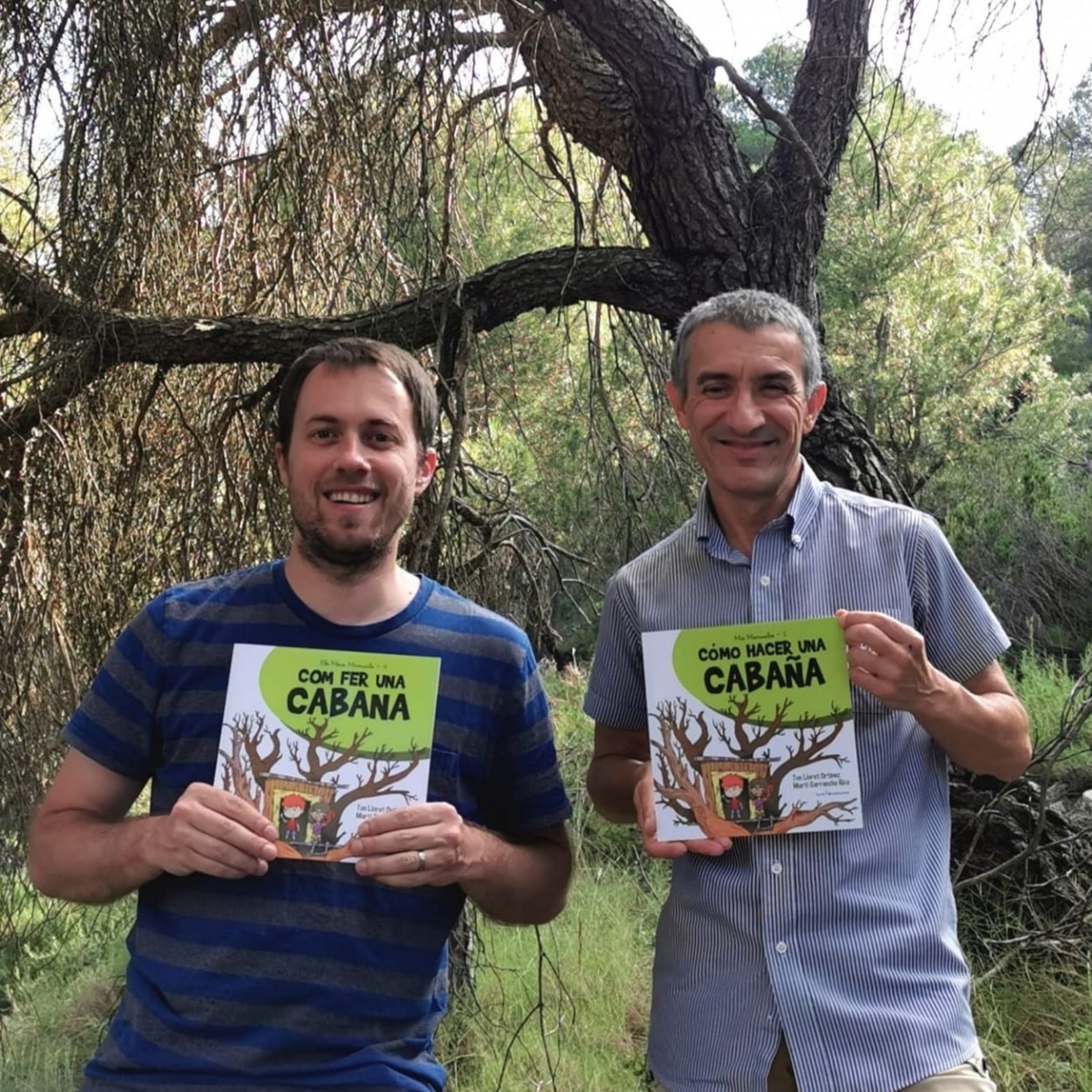 Lloret (a l'esquerra) i Garrancho, amb el llibre