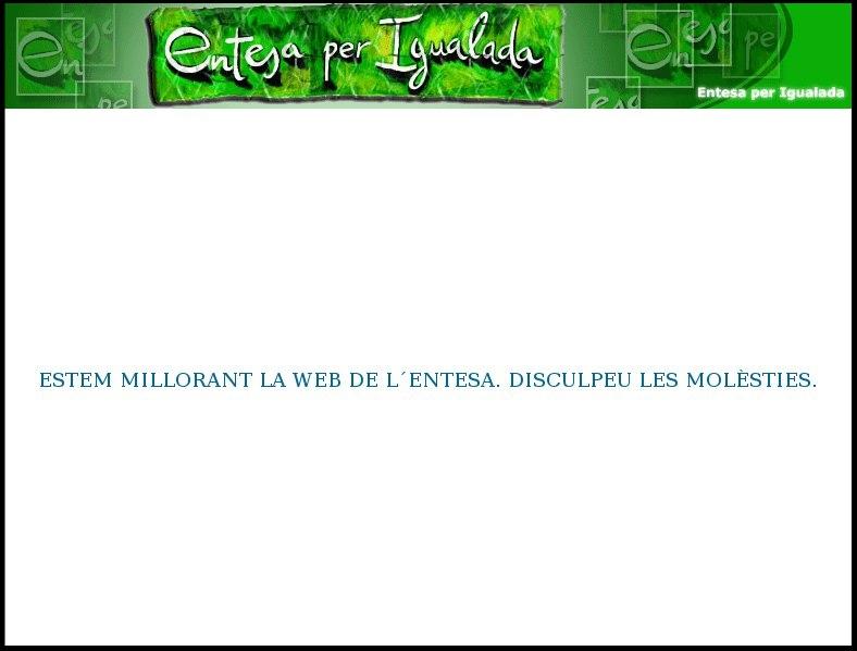 Web actual de l'Entesa per Igualada