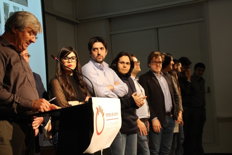 Membres del PSC Anoia, en la presentació de la nova executiva