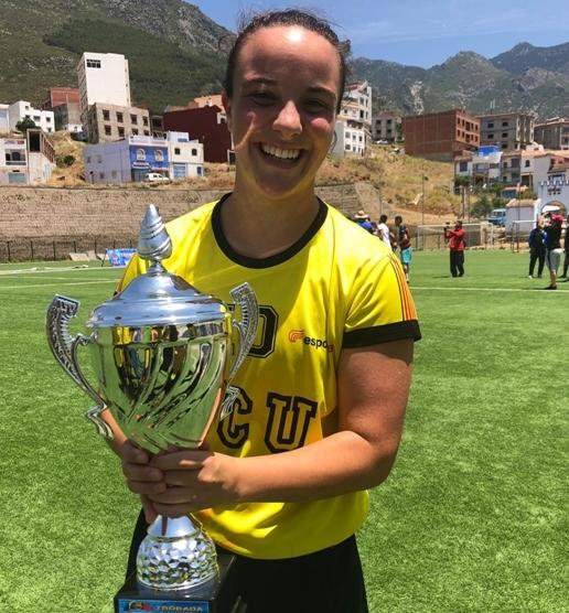 La jugadora, en la seva estada al Marroc amb la selecció