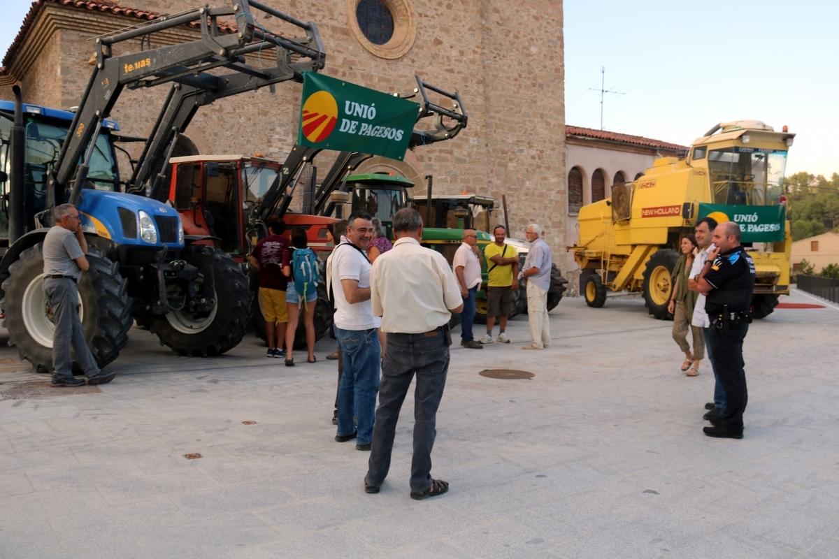 La concentració de tractors FOTO: ACN
