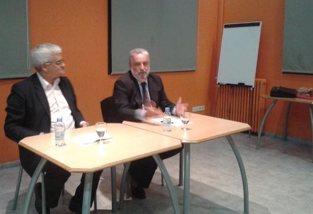 El periodista Rafel Nadal, en un moment de la conferència