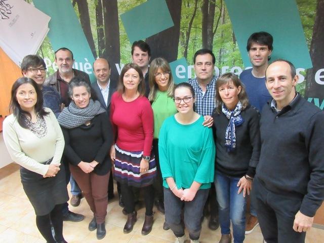 Imatge del grup de treball que ha començat aquest projecte