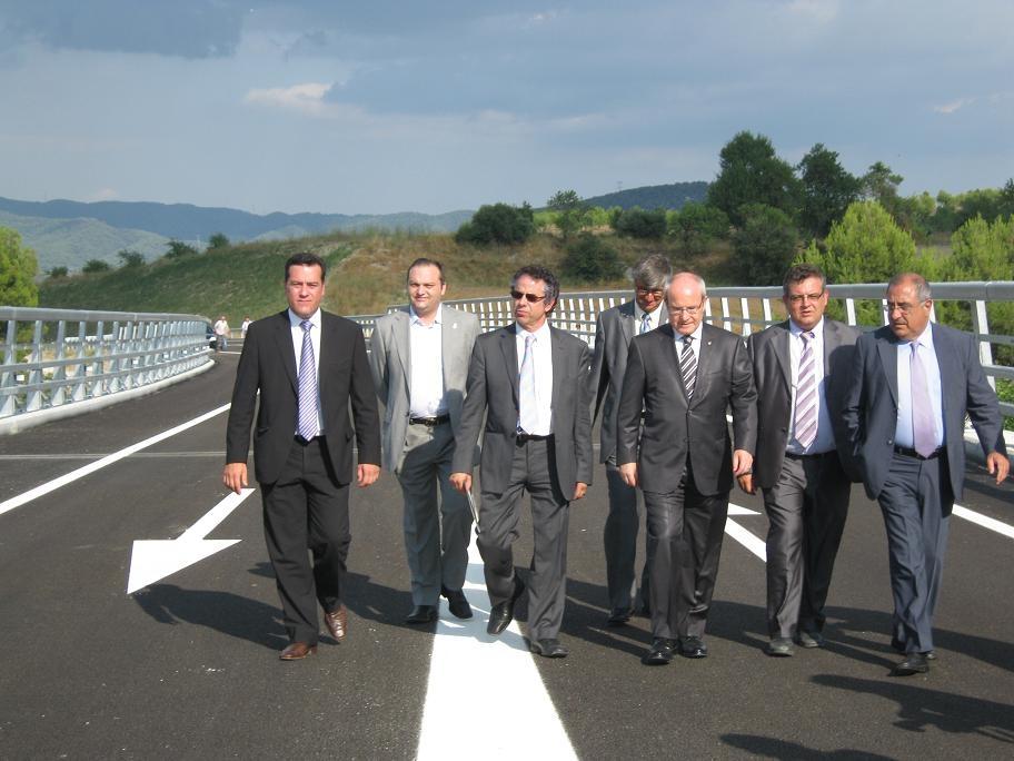El president,el conseller i els alcaldes de la Conca