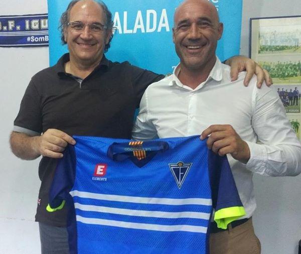 Gimeno, dreta, amb el president Francesc Jorba