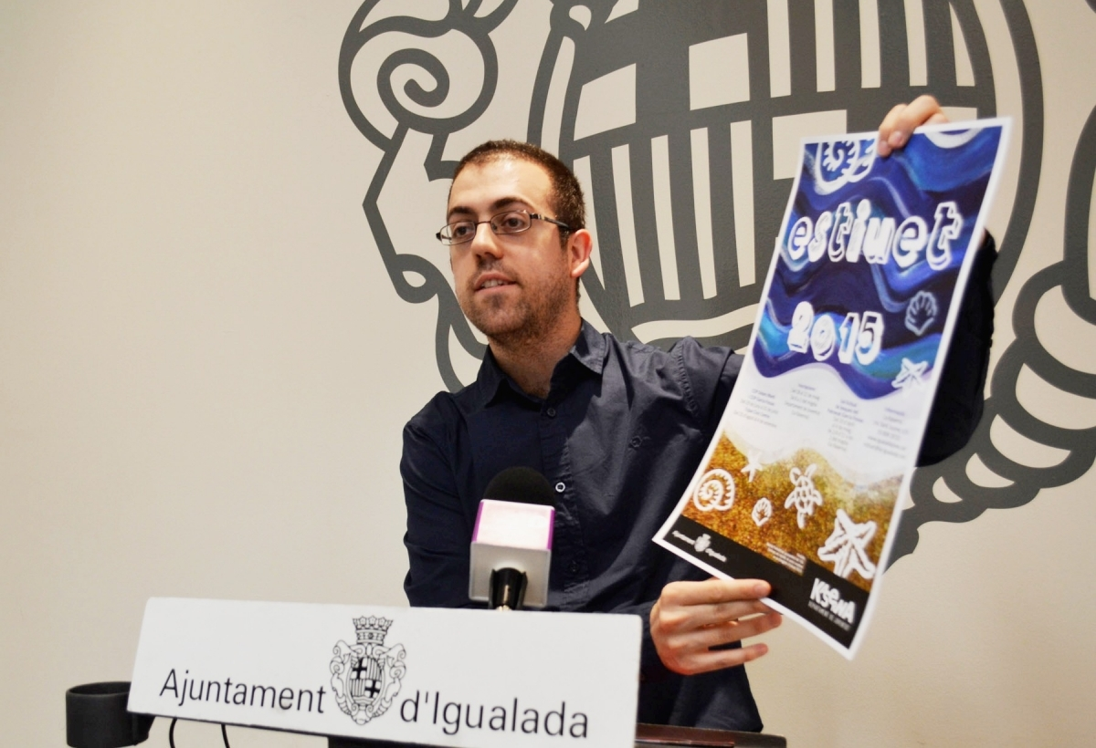 Joan Requesens, regidor de Joventut i Cooperació de l'Ajuntament, ha presentat el disseny d'enguany