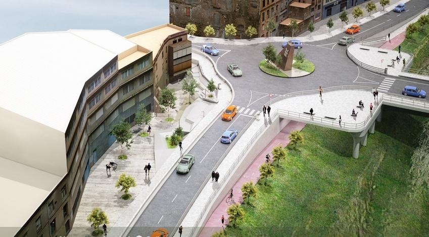 Imatge virtual de la proposta de la Generalitat de l'entrada a Igualada