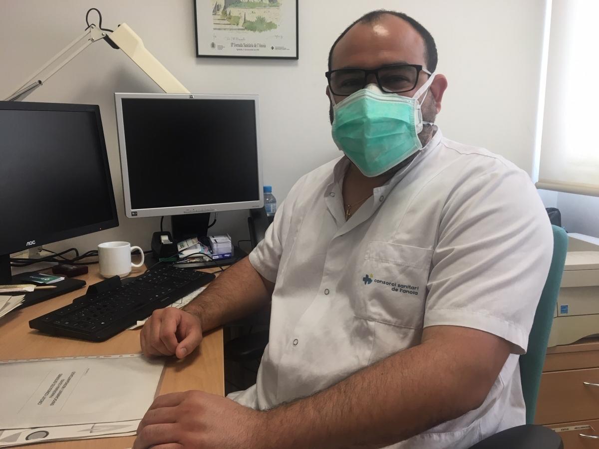 Santi Abreu cap del Servei d'Anestesiologia i Medicina Crítica de l'Hospital d'Igualada (Foto: TCM)