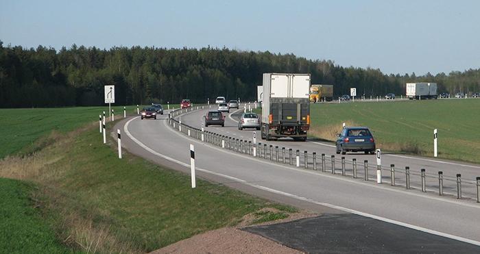 Una de les carreteres sueques 2+1 FOTO: J. Olsson
