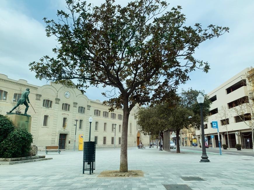 La Plaça Castells, una de les imatges de l'Igualada buidada