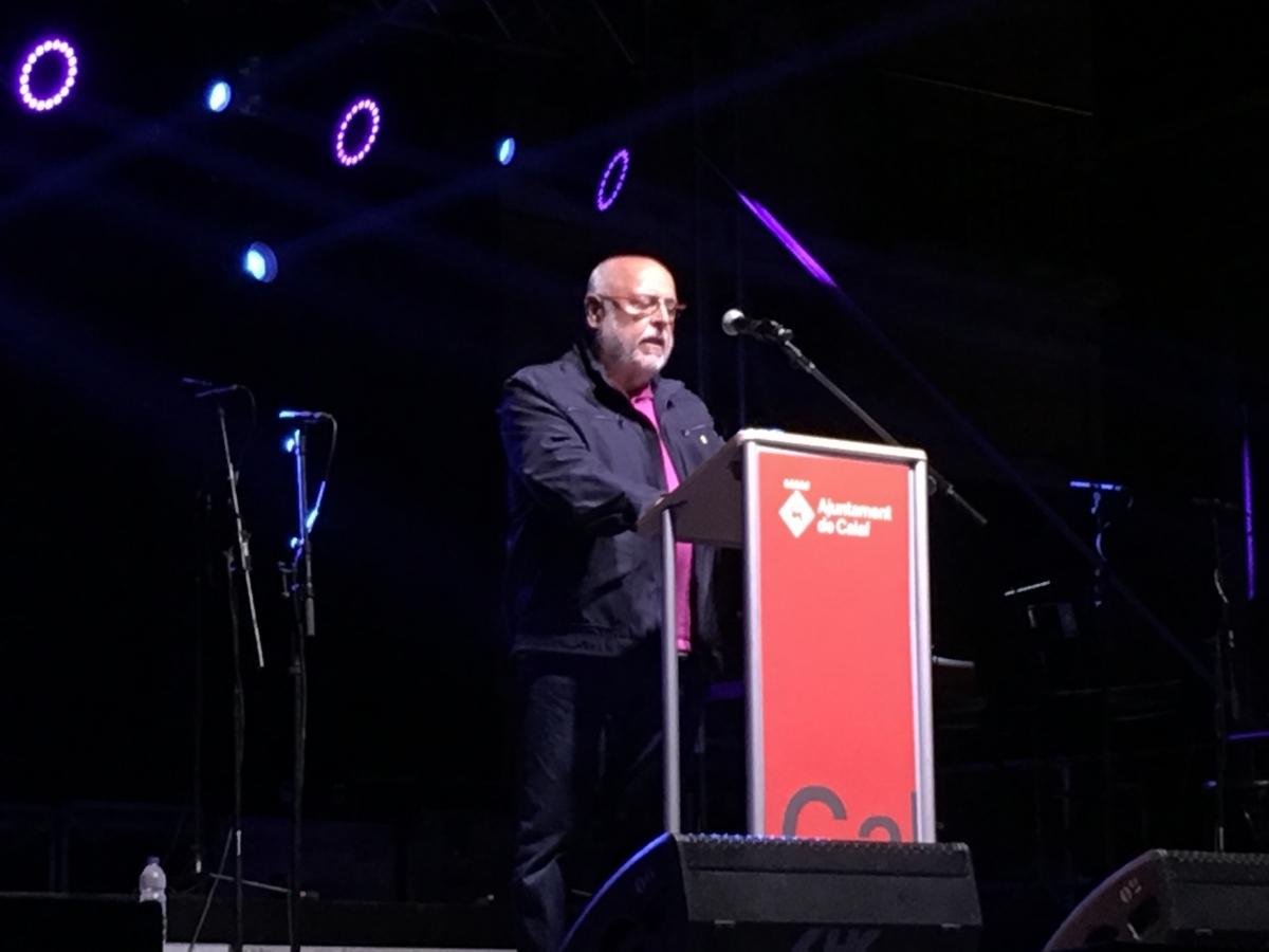 Pere Soriguera, en la seva intervenció com a pregoner