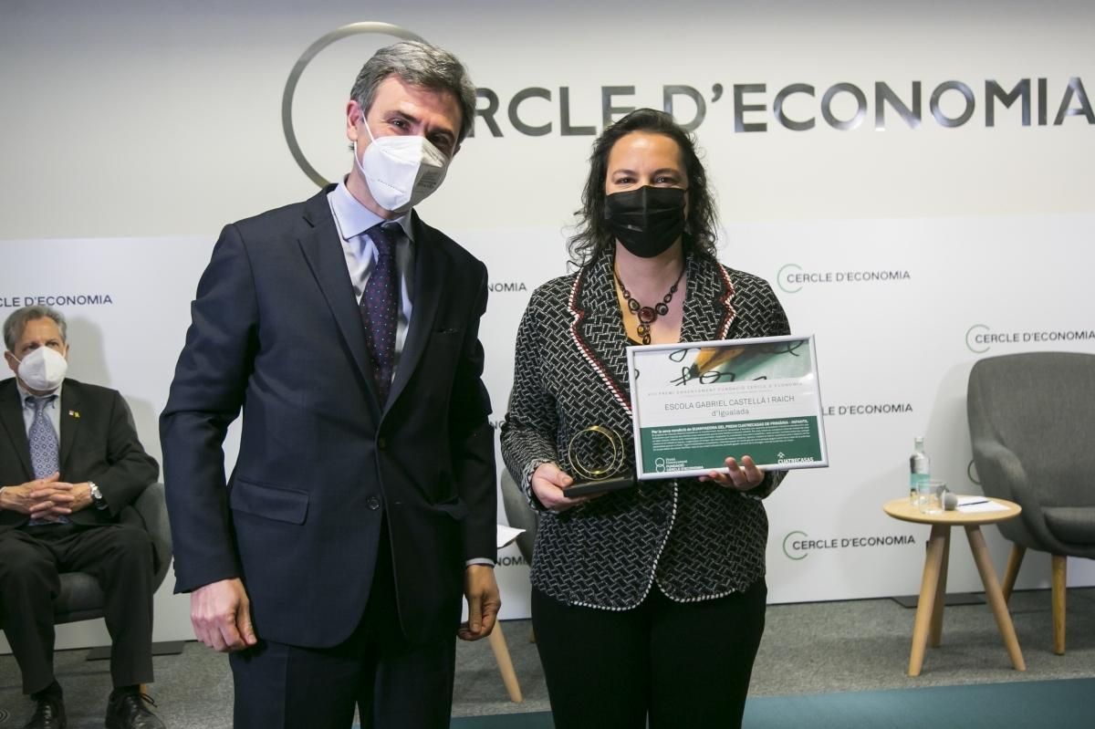 Núria Ramon, recollint el premi