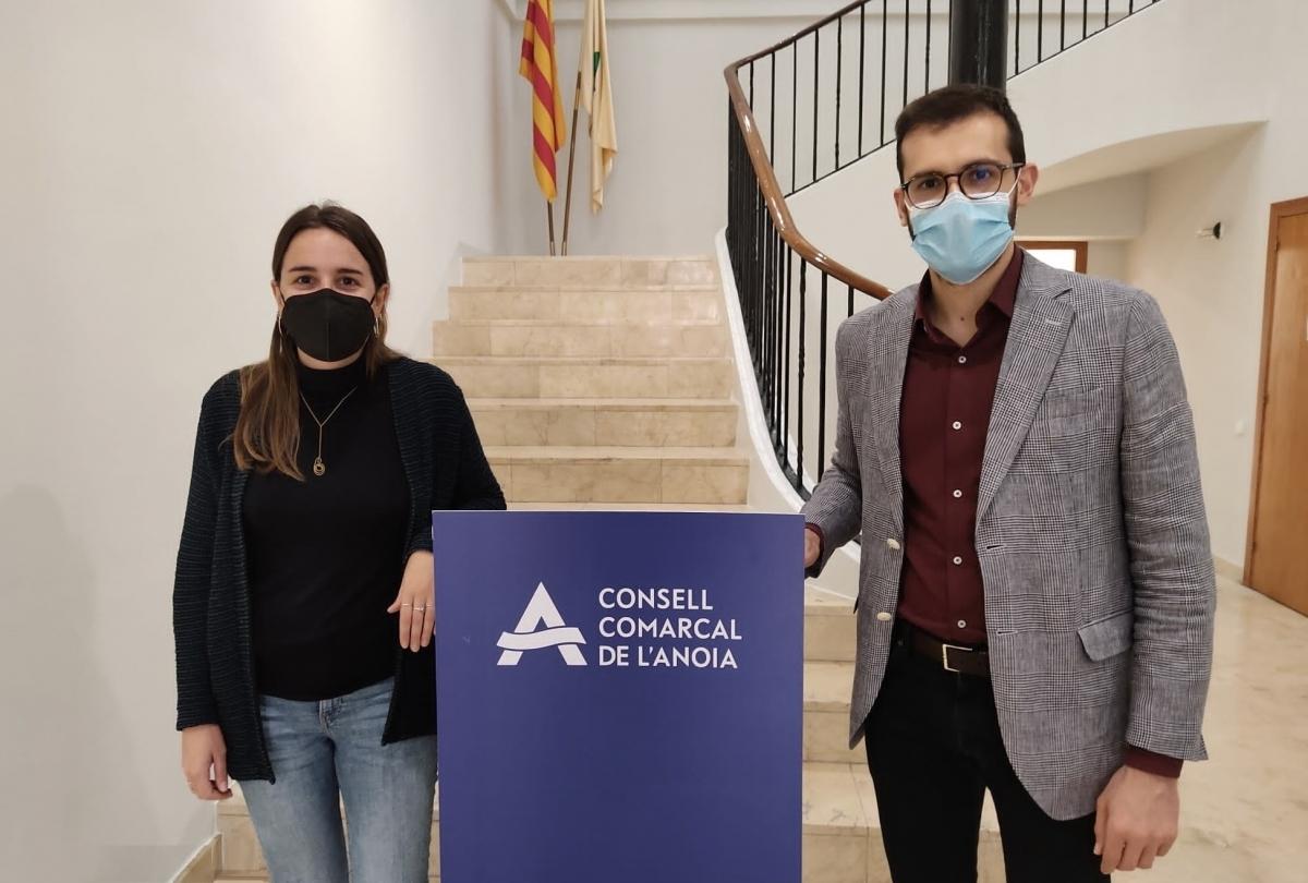Blanca Pellicer, de l'Ateneu Cooperatiu, amb Jordi Cuadras