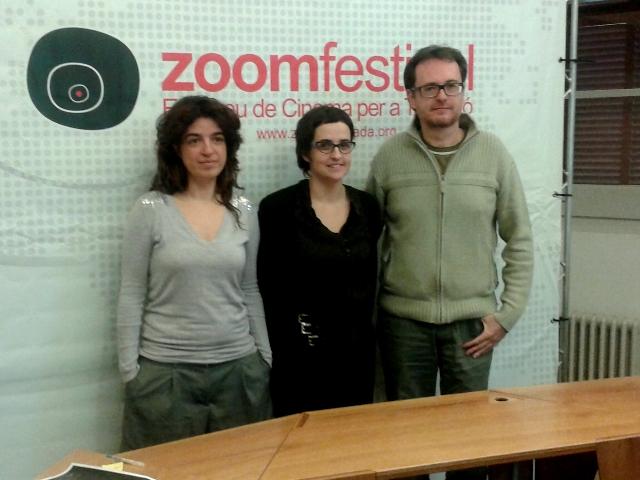Anna Cervera, Imma Soteras i Jordi Comellas durant la presentació d'aquest divendres