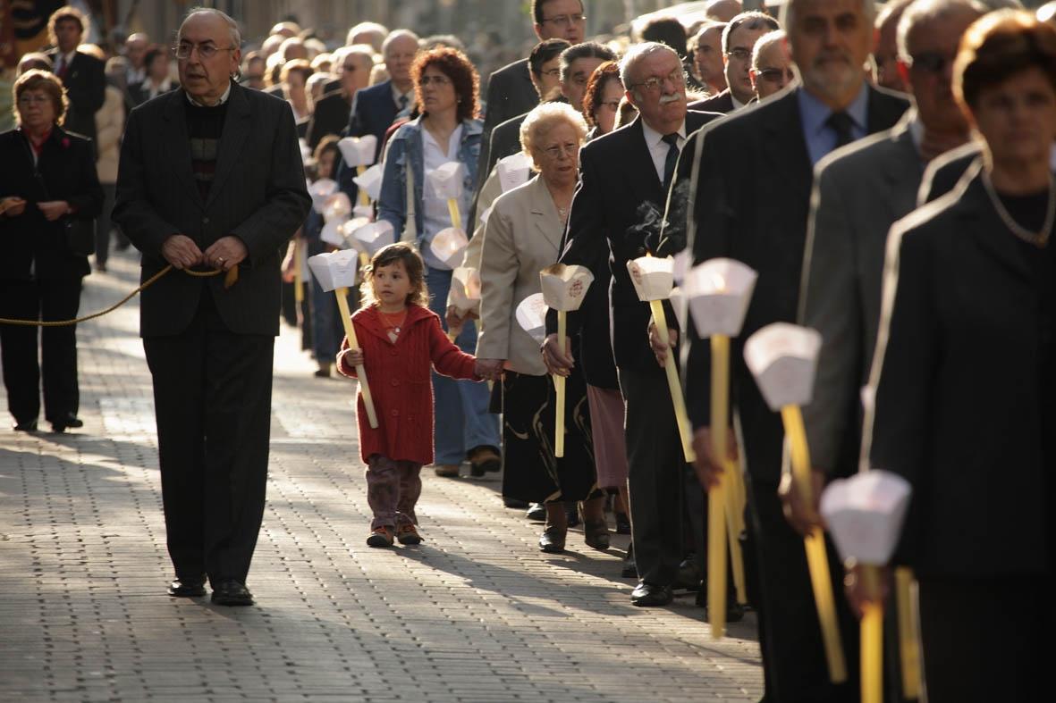 La processó del Sant Crist és un dels actes més concorreguts  - foto de Santi Carbonell