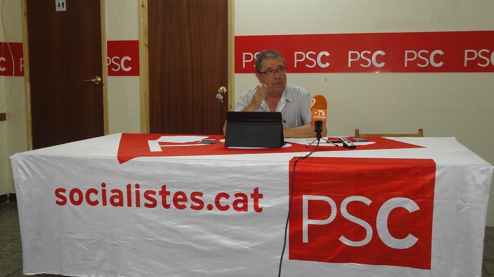 El primer secretari de l'agrupació local del PSC de Vilanova, Carles Mayoral