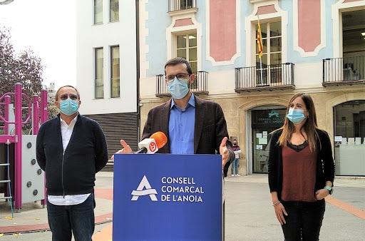 Jordi Cuadras, davant el Consell, en una roda de premsa