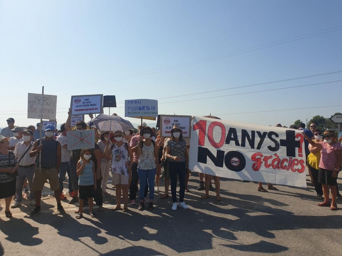 La manifestació dels veïns, aquest dissabte