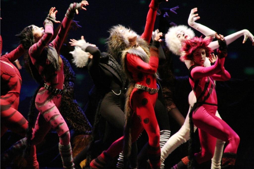 Imatge de l'espectacle sobre el musical Cats